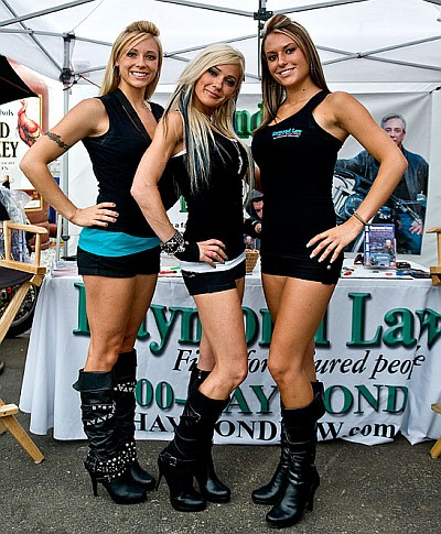 The Haymond Girls at the Haymond Law Booth