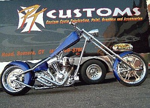PT Customs - Blue Bike