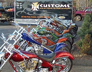 PT Customs - full line up of bikes