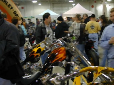 Big crowds at the motorcycle show